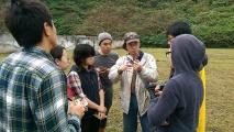 趙老師為同學們講解鹿島地質情況