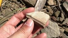 Yingiana遺址採集的砏岩切鋸石料